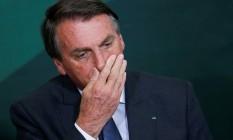 Bolsonaro em solenidade Foto: Adriano Machado/Reuters