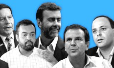 Pesquisa da Quaest encomendada pelo GLOBO testou três cenários para eleição ao governo do Rio com seis nomes Foto: Editoria de Arte