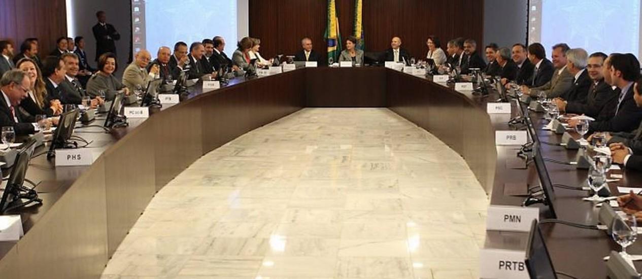 Reunião da presidente Dilma com ministros em Brasília André Coelho