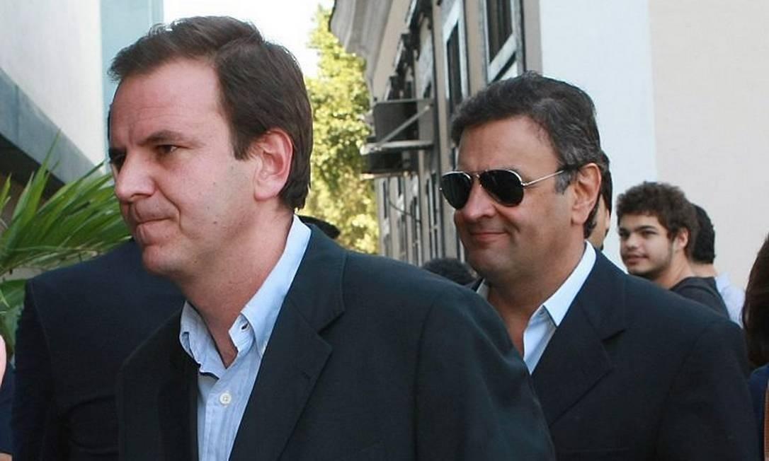 Eduardo Paes, prefeito do Rio, e o senador Aécio Neves Carlos Ivan
