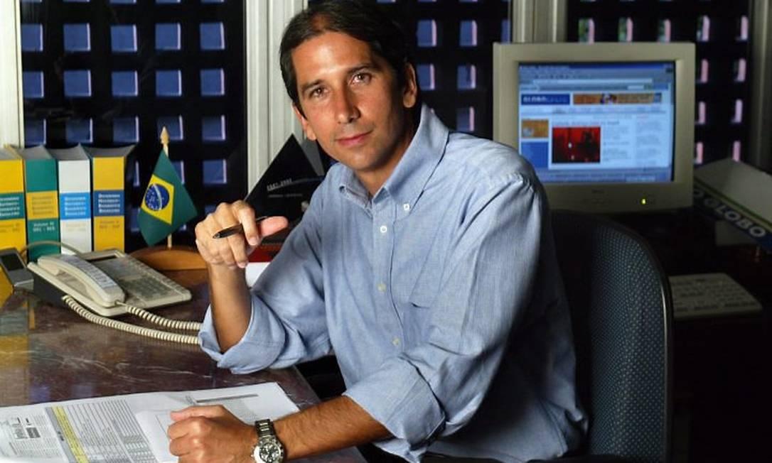 Rodolfo Fernandes na redação do GLOBO Foto: Marizilda Cruppe