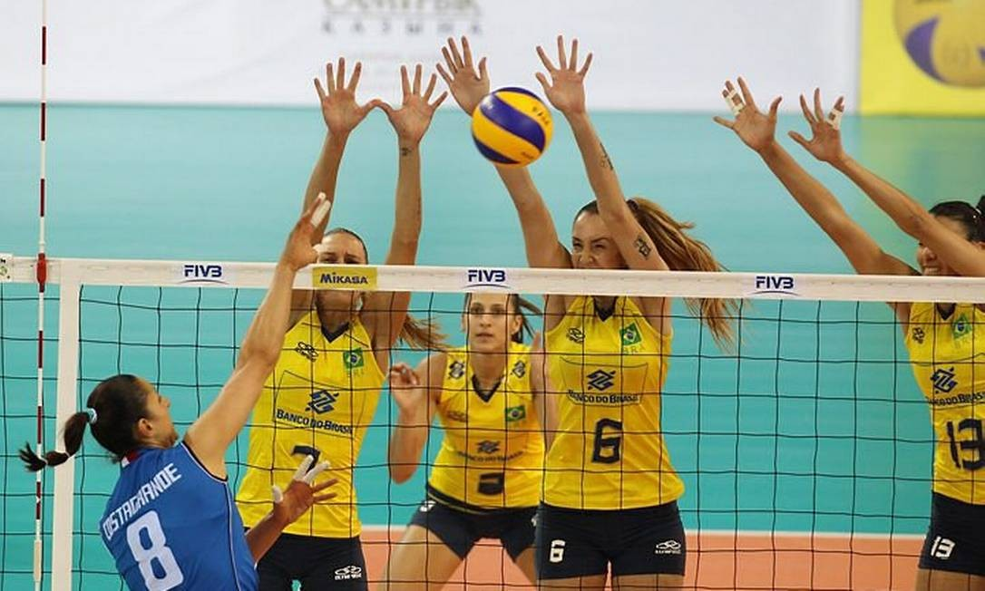 Seleção feminina vence a Itália - Foto: Divulgação CBV