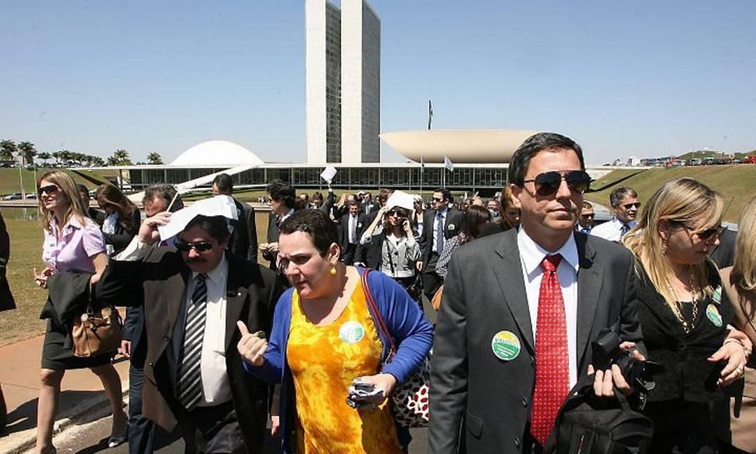 Juízes e procuradores protestam em Brasília por aumento de salários. Foto: Ailton de Freitas