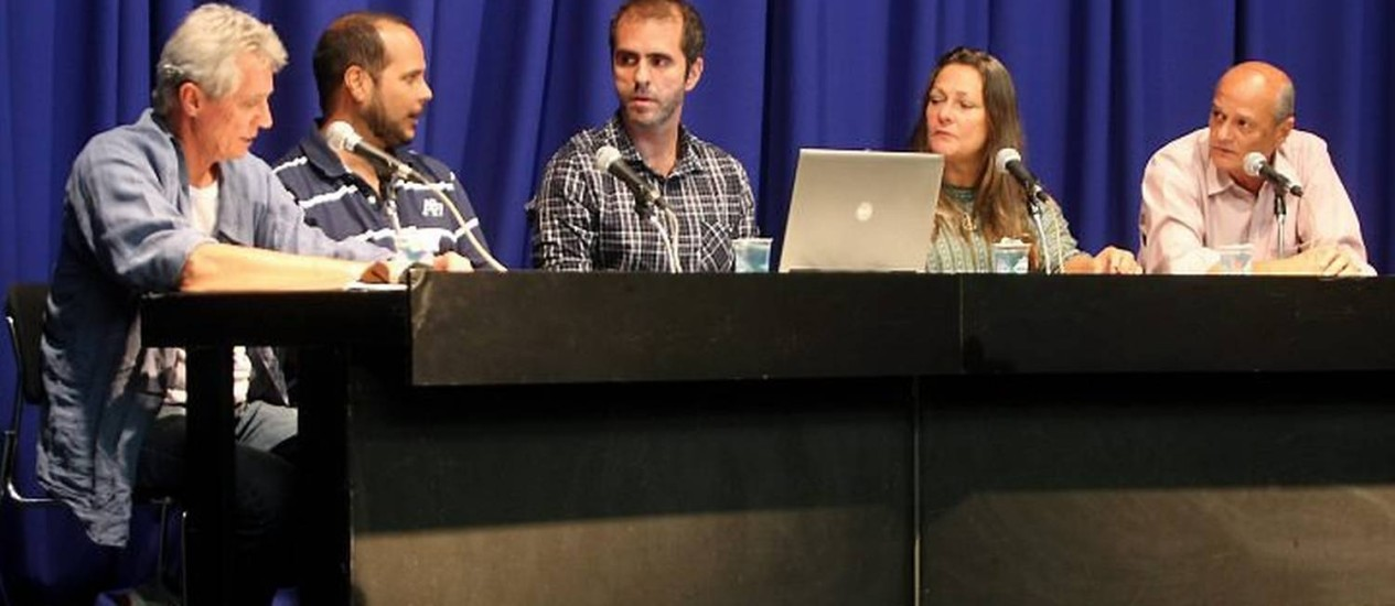 Debate com representante de movimentos contra a corrupção no GLOBO. Foto: Felipe Hanower Agência O Globo