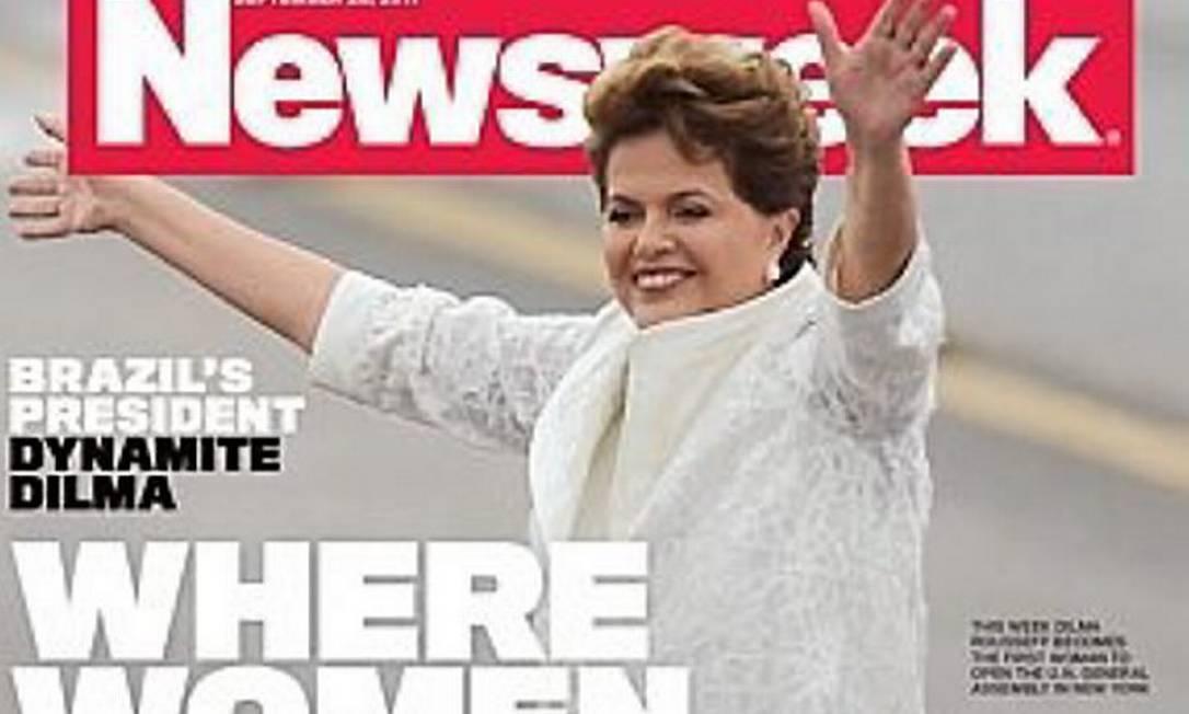 Dilma Rousseff estampa a capa da próxima edição da revista americana Newsweek. Foto: ReproduçãoNewsweek