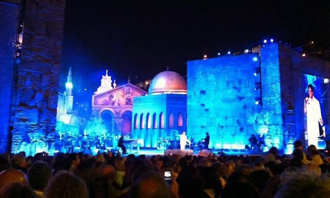 Show de Roberto Carlos em Jerusalém Foto Daniela Kresch