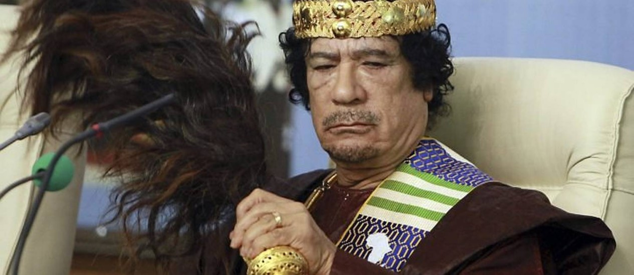 Muamar Kadafi AP