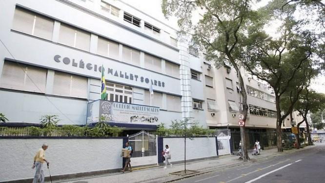 O Colégio Mallet Soares: terreno vai abrigar novo prédio da escola e também hotel da rede Accor com 210 quartos (Foto: Pedro Kirilos Agência O Globo)