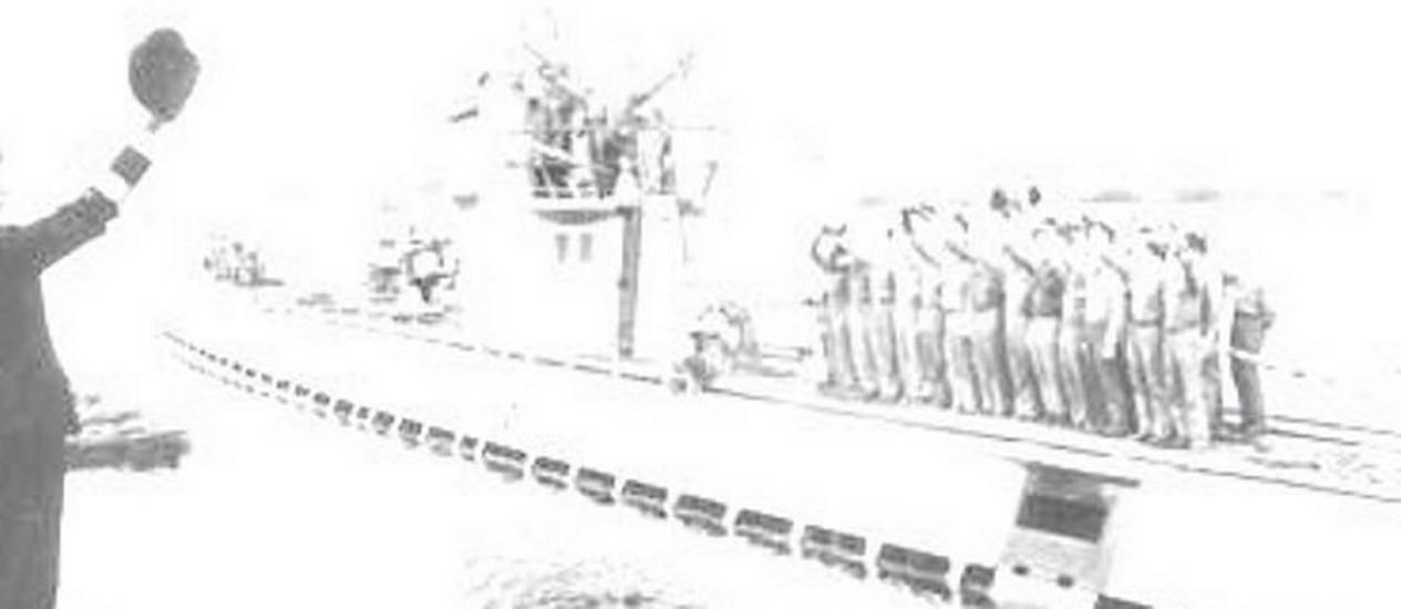 Submarino alemão U513, afundado na costa de Santa Catarina Foto de Divulgação