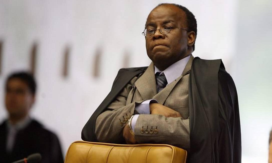 O ministro do STF, Joaquim Barbosa, em foto de Aílton de Freitas