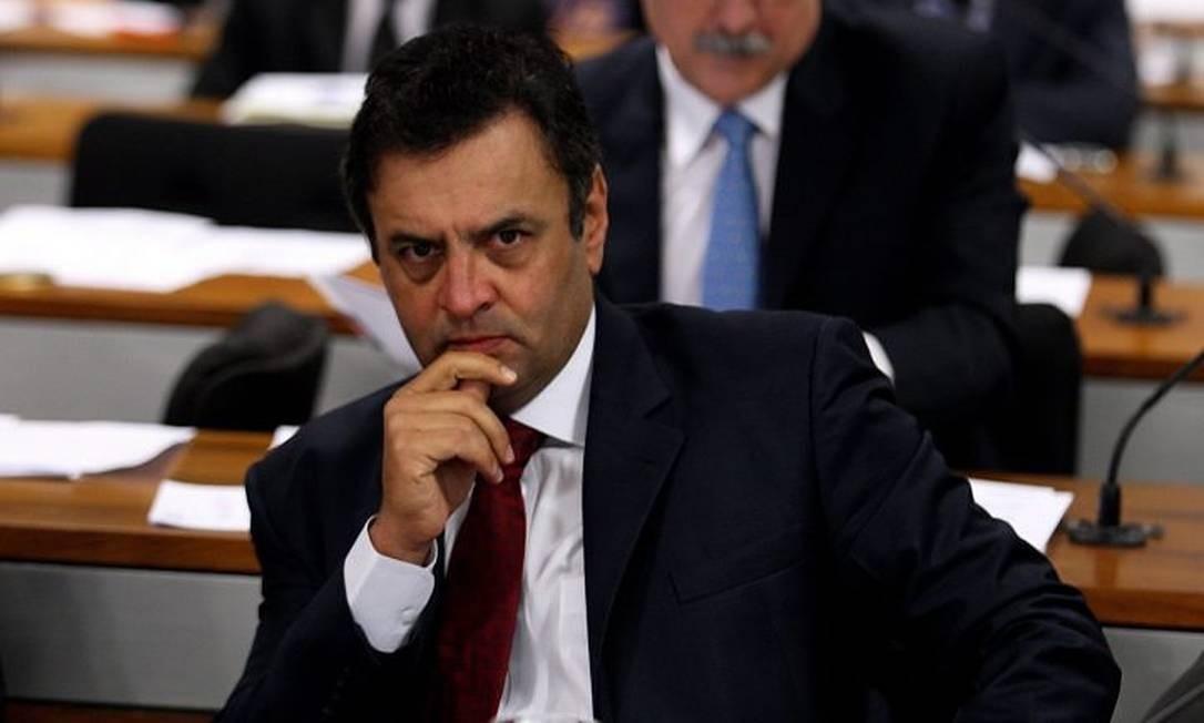 O senador do PSDB mineiro, Aécio Neves, em foto de Aílton de Freitas