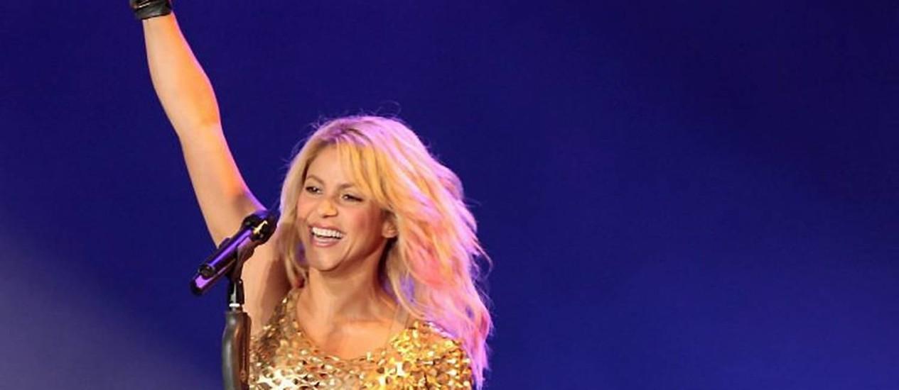 A cantora Shakira durante apresentação no Rock in Rio - Extra