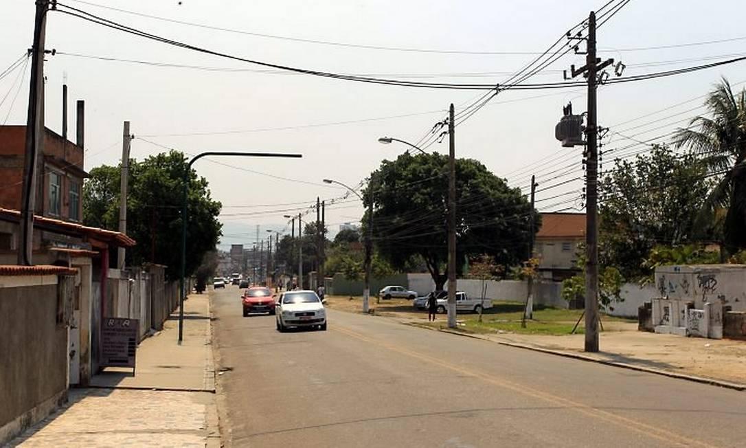 A rua onde o coronel Costa Filho mora, em Nilópolis, na Baixada (Foto: Gabriel de Paiva Agência O Globo)