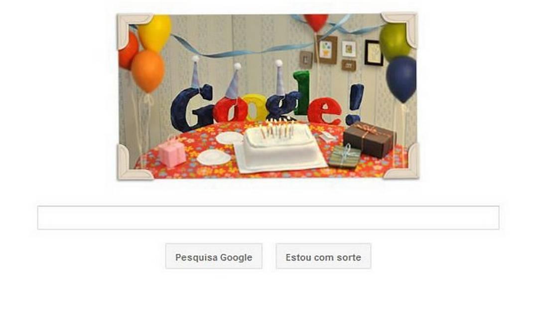 Doodle comemora 13 anos da Google Foto: Reprodução