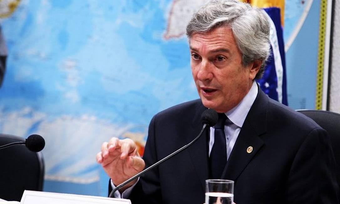 O senador e ex-presidente da República, Fernando Collor de Mello em foto de Aílton de Freitas