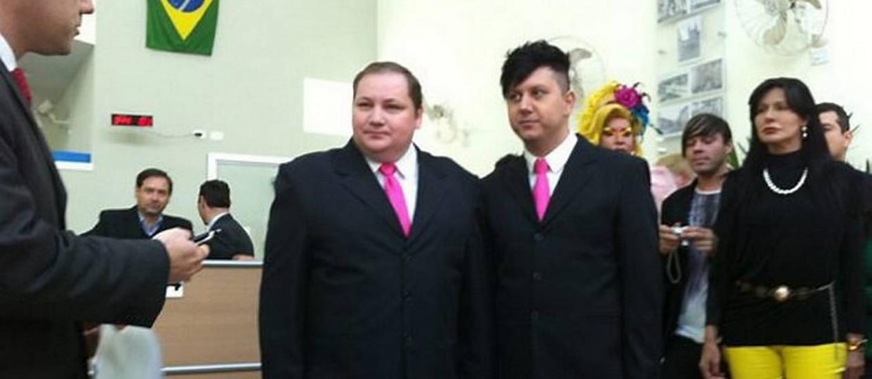 Luiz André e José Sérgio se casaram no civil em cartório em Jacareí (SP). Foto: Paulo Toledo Piza G1