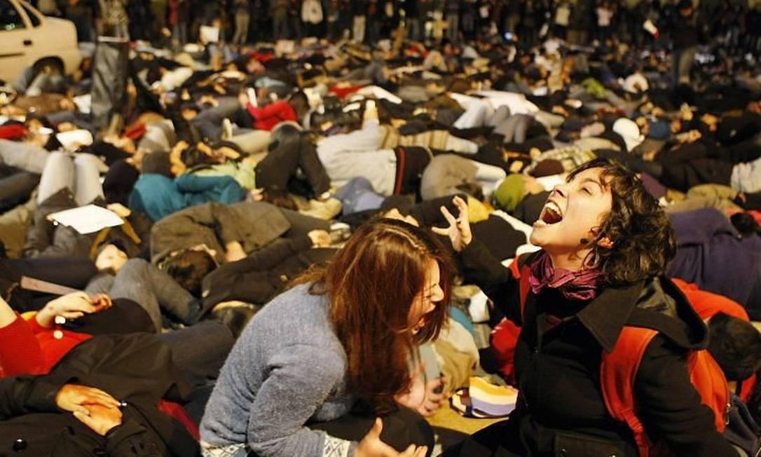 Estudantes protestam em Santiago Reuters