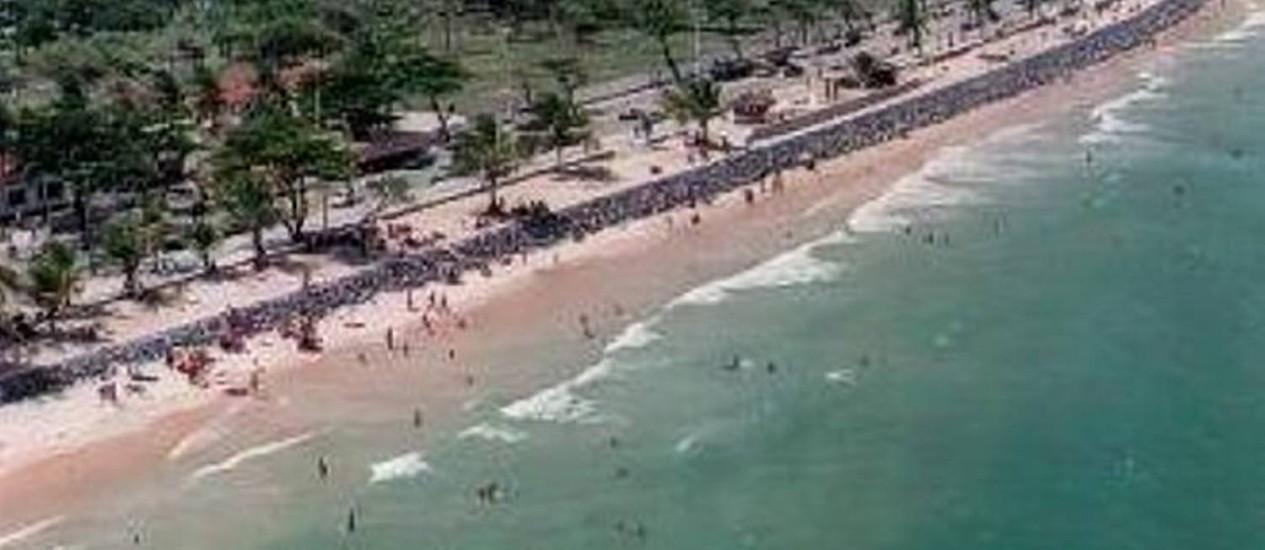 Praia de Boa Viagem, em Recife, concentra a maior parte dos ataques de tubarão Divulgação Prefeitura de Recife
