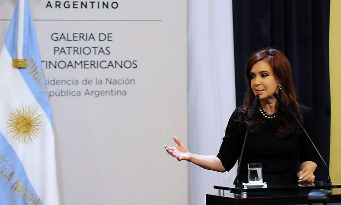 Cristina ao anunciar a candidatura AFP