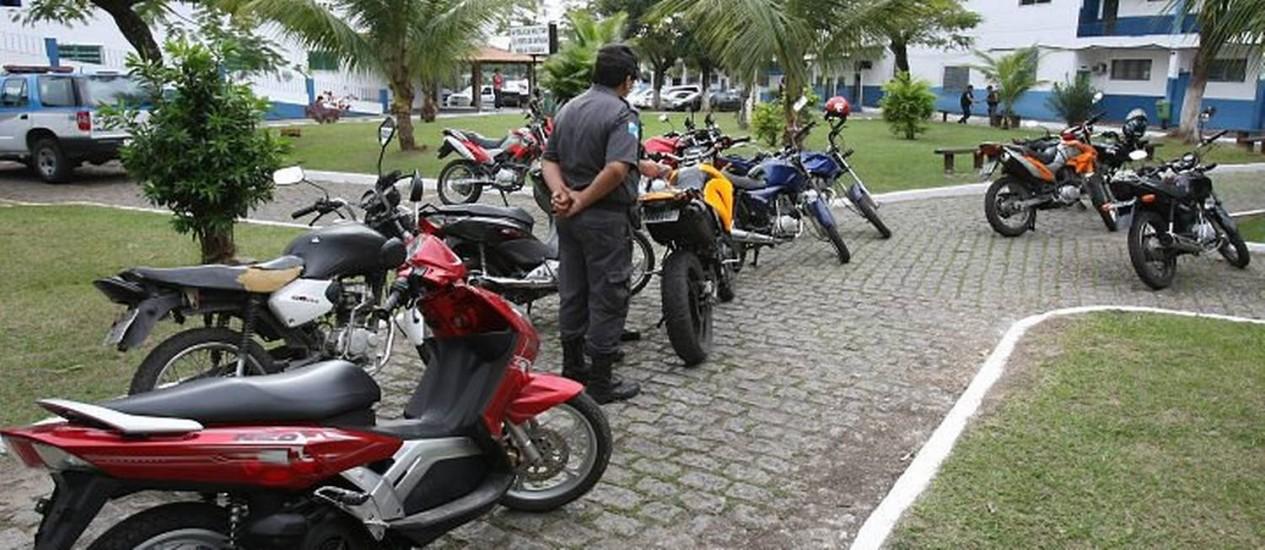 Motos apreendidas em operação. Foto de Marcelo Piu