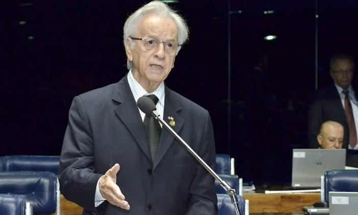 O senador Itamar Franco - Foto da Agência Senado