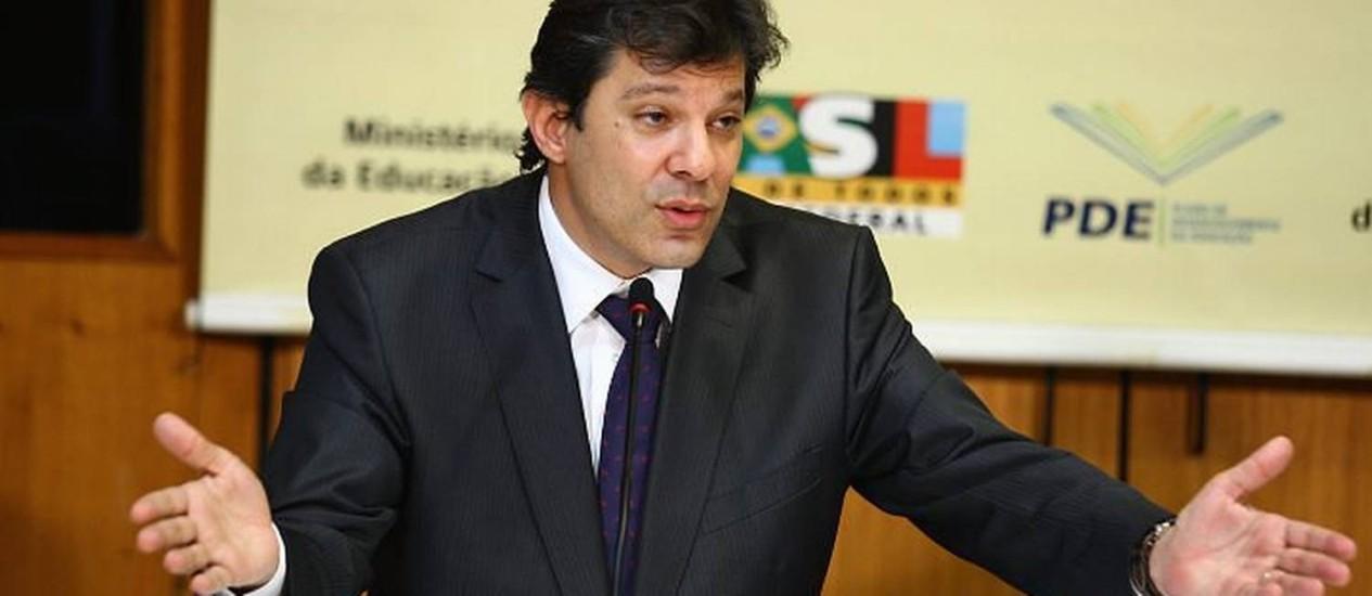 O ministro Fernando Haddad - Foto de Ailton de Freitas