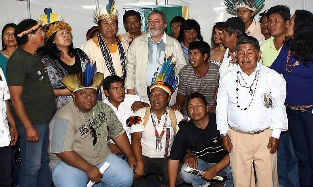 Lula durante visita à Universidade Federal de Dourados, em 24 de agosto de 2010 Foto: Ricardo Tadeu
