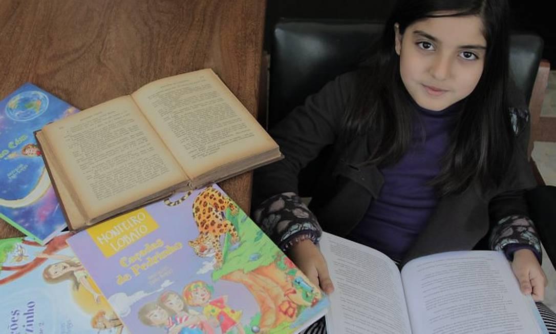 Marina Cartum, 8 anos: para o pai, Lobato dá chance de se discutir racismo Eliária Andrade