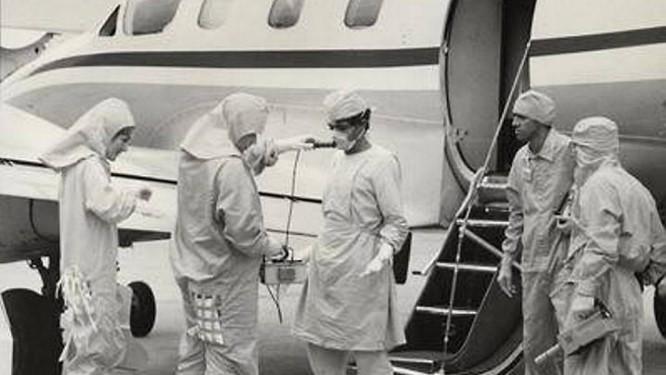 As pessoas passavam por testes de radiação após chegar de Goiânia Arquivo