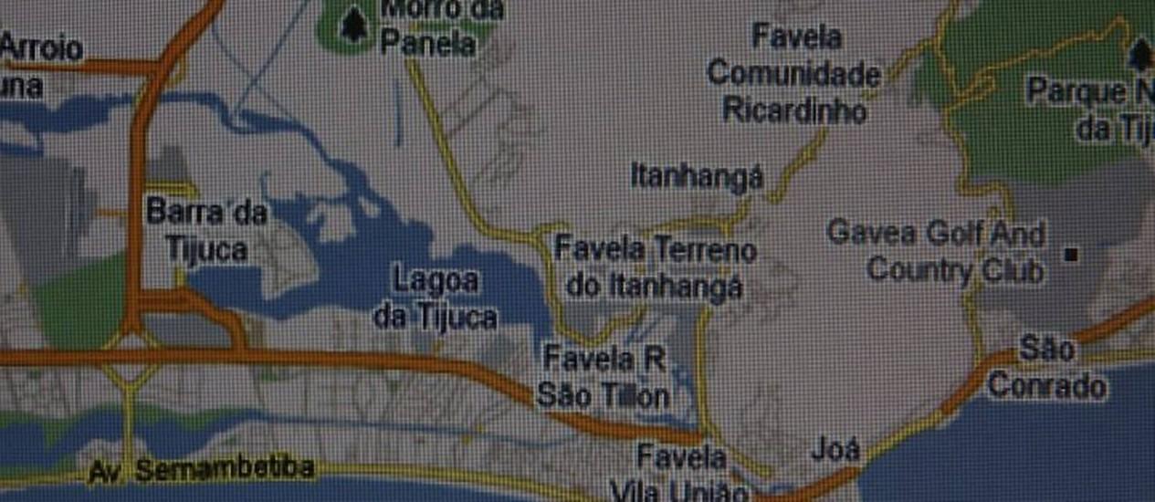 Google maps prioriza mapas de favelas no Rio de Janeiro (Foto: Domingos Peixoto Agência O Globo)