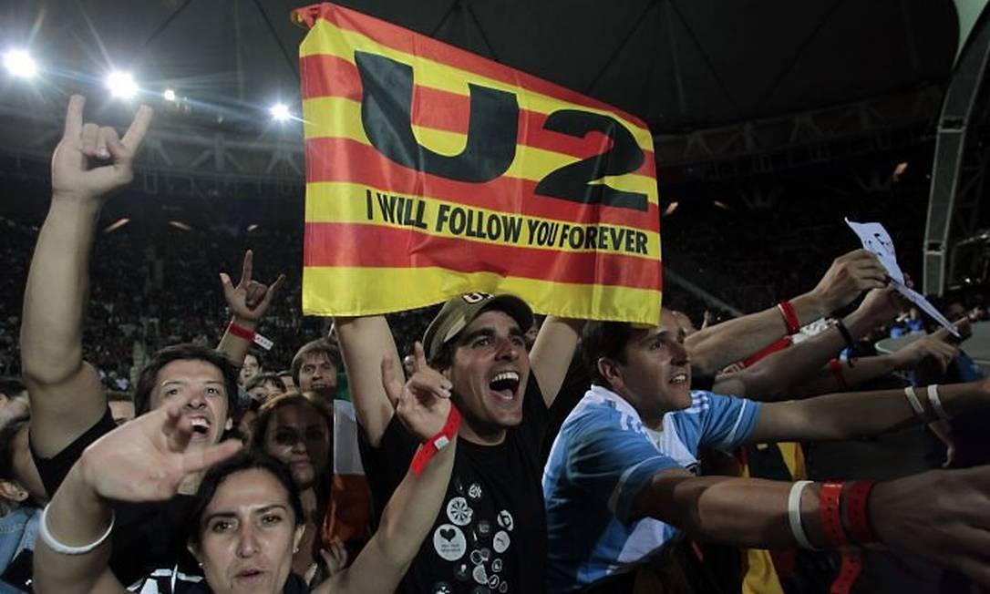 Fãs durante show em La Plata, na Argentina Crédito: ReutersMarcos Brindicci