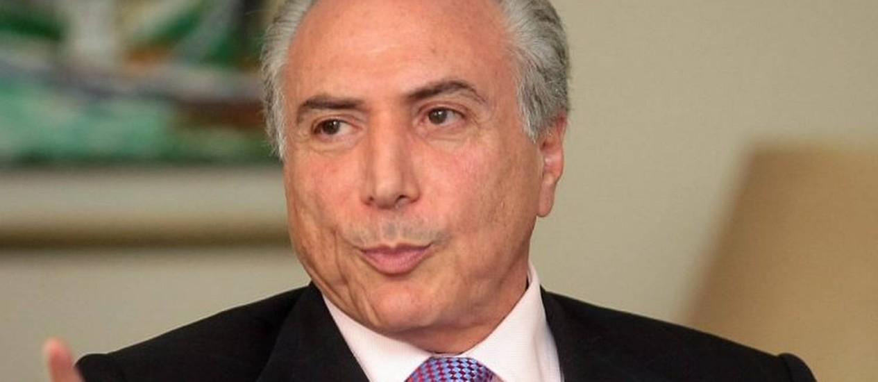 O vice-presidente da República, Michel TemerFoto de Pedro Kirillos