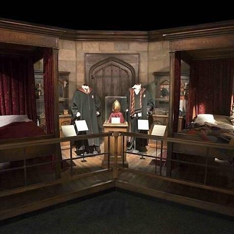 O quarto de Harry Potter e Ron Weasley em 'Harry Potter: The Exhibition' Reprodução do site do Discovery Times Square