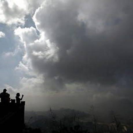 Uma nuvem de tempestade no Rio de Janeiro Foto: Custódio Coimbra