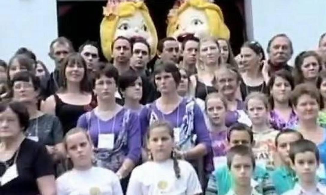 Cidade tem dez vezes mais gêmeos do que o considerado normal - Reprodução TV Globo