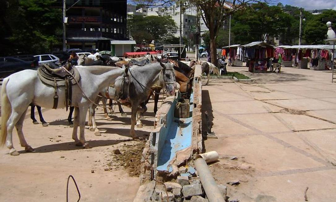 Cavalinhos na Praça do Suspiro, em Nova Friburgo, Região Serrana. Foto Carlos Emerson Junior Blog da Serra