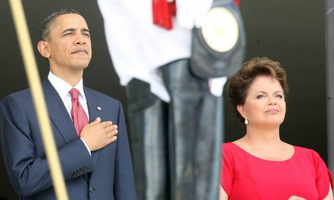 Obama e Dilma juntos no Palácio do Planalto - Foto de Givaldo Barbosa