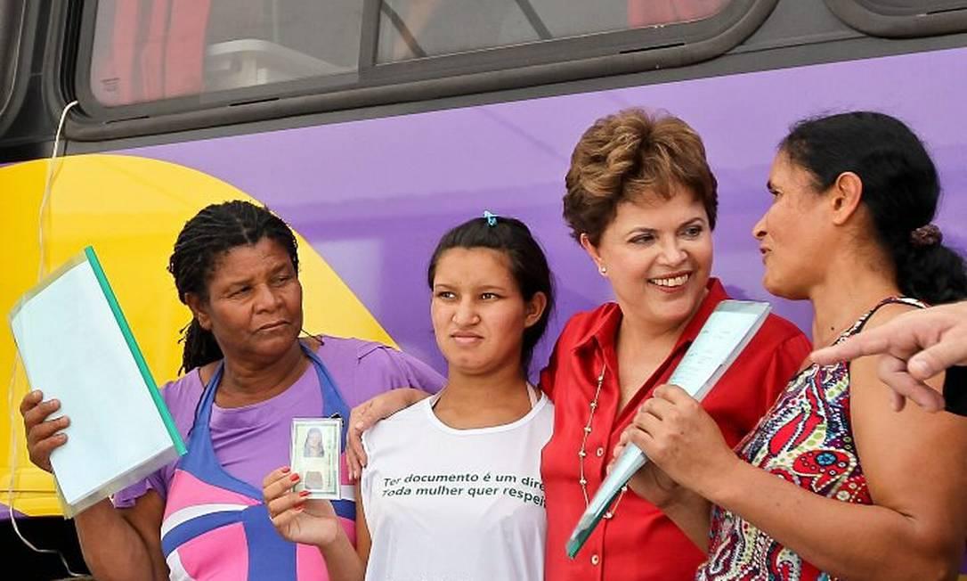 Dilma Rousseff durante visita ao Expresso Cidadã em Irecê, na Bahia - Roberto Stuckert Filho Presidência