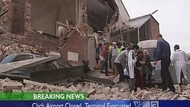 Prédio destruído em Christchurch Reuters
