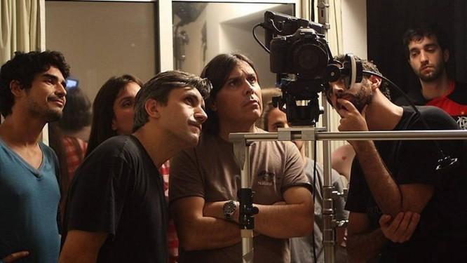 Os bastidores da gravação de 'O abajour' Foto: Rodrigo Molina Divulgação