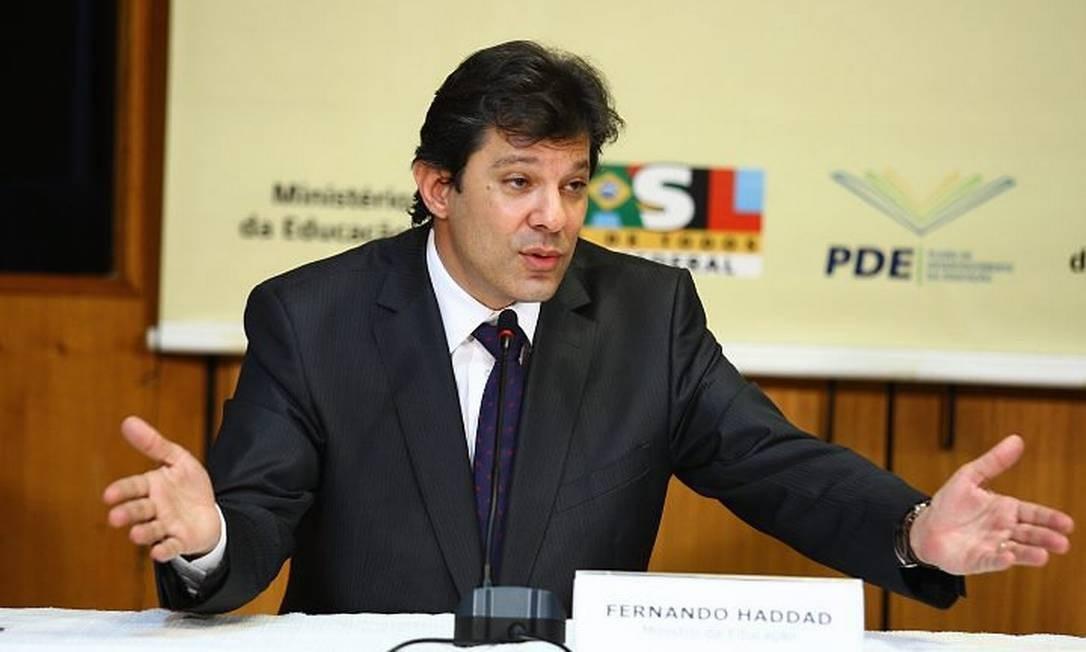 Oministro da Educação, Fernando HaddadFoto de Aílton de Freitas