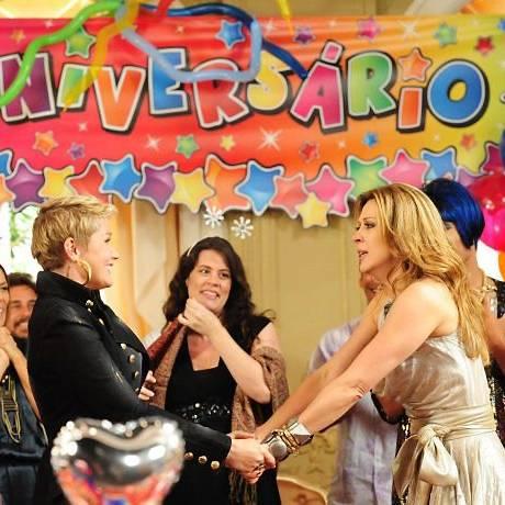Xuxa e Claudia em cena de 'Ti-ti-ti' foto: TV GloboJoão Miguel Jr.