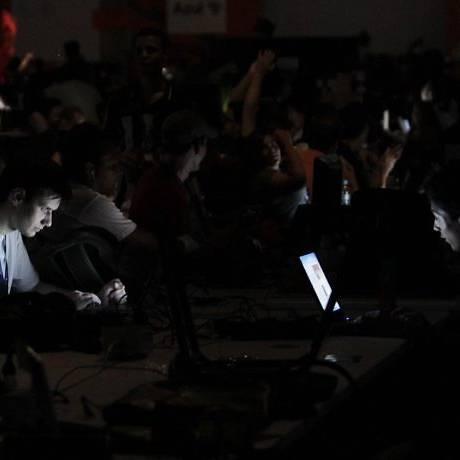 Após fortes chuvas, pavilhão da Campus Party voltou a ficar sem energia na sexta-feira Crédito: Marcos Alves
