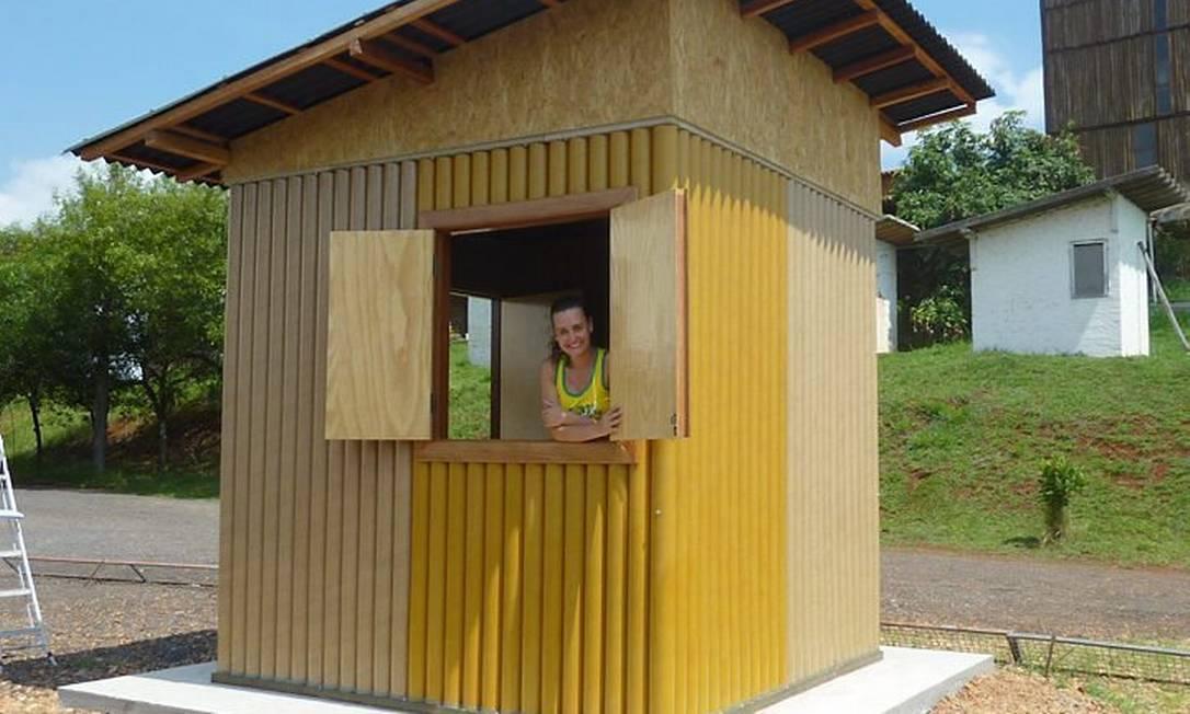 Tubos de papelão são estudados em universidade como elementos estrutural de edificaçõesFoto: Divulgação