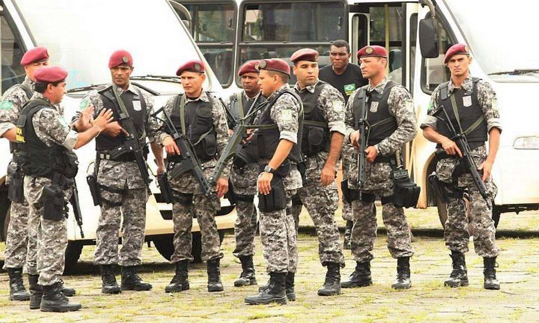 Força Nacional de Segurança chega a Teresópolis - Foto: O Globo / Marcelo Piu