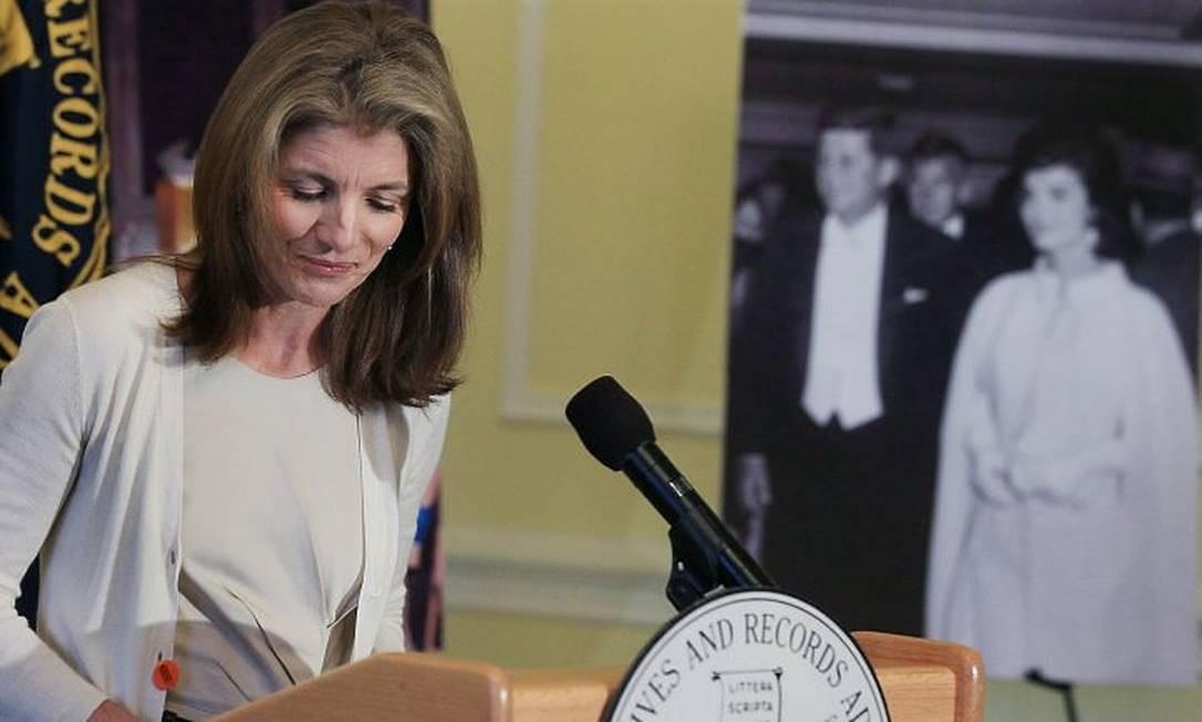 Caroline Kennedy no ato de inauguração do arquivo AFP