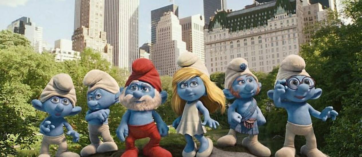 Os 'Smurfs' vão ganhar vida em 3D Divulgação