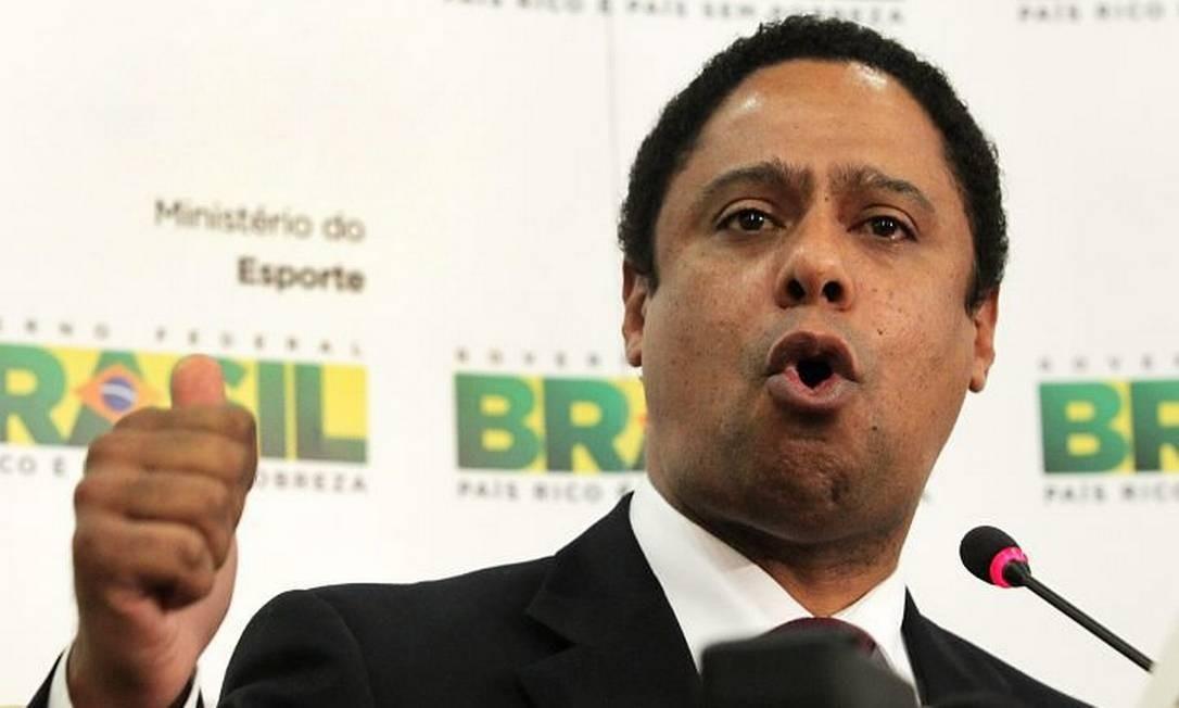 O ministro Orlando Silva em entrevista coletiva para a imprensaFoto de Sérgio Marques