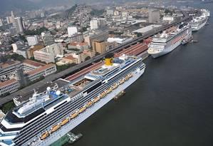 Transatlânticos no Porto do Rio na temporada passada Foto de divulgaçãoAlexandre MacieiraRiotur