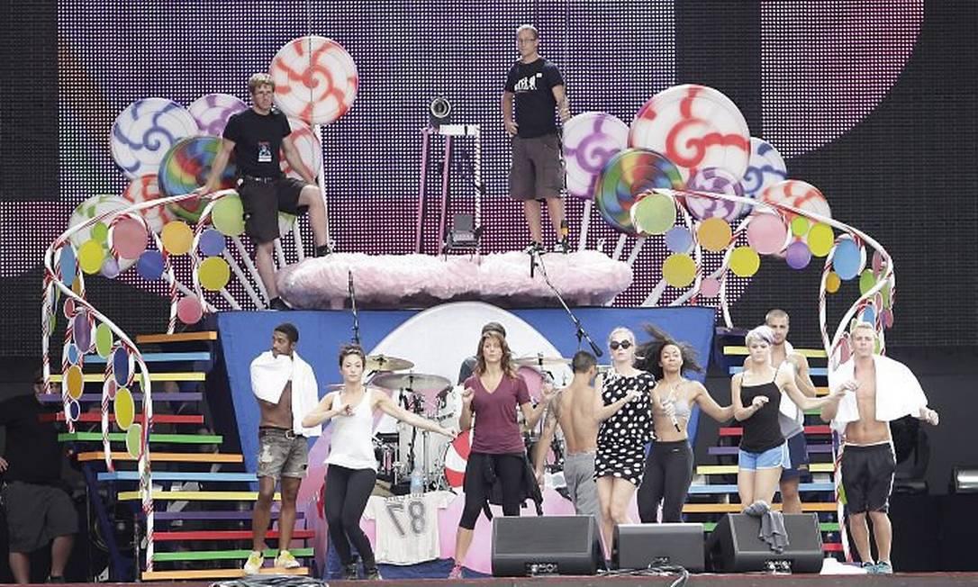 Katy Perry ensaiando na Cidade do Rock Ricado Melo